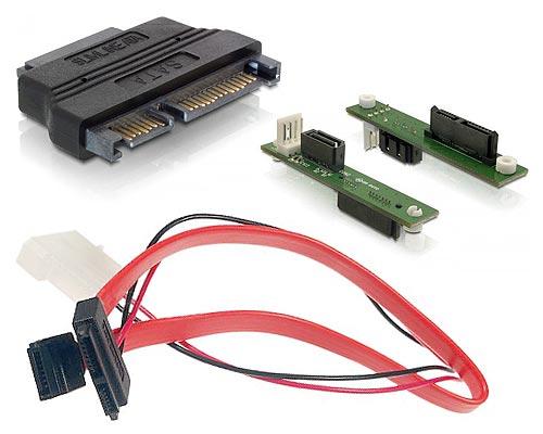 Варианты переходников для подключения Slim SATA приводов