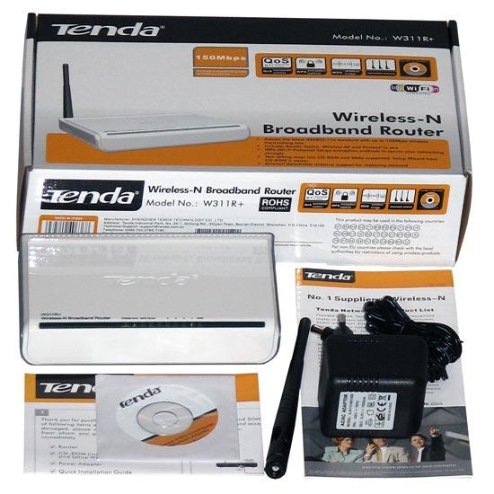 Wi-Fi роутер Tenda W311R+, комплект поставки