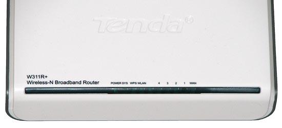 Wi-Fi роутер Tenda W311R+, передняя панель